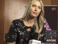 【中字】乐视网球专访莎娃 遗憾中国赛季年终全力争冠