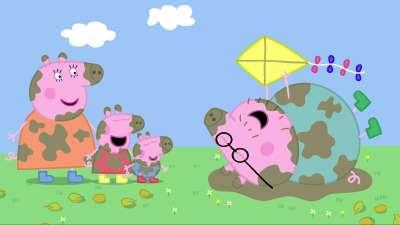粉红猪小妹14 放风筝