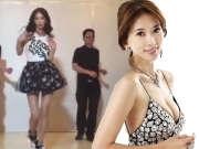 林志玲穿超短裙热舞 性感踢腿娇羞似少女