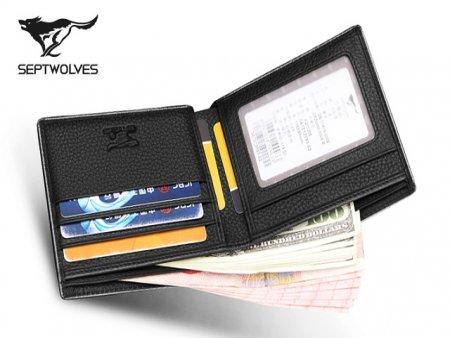 七匹狼男士短款钱包