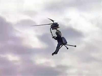 世上最小的单人直升飞机