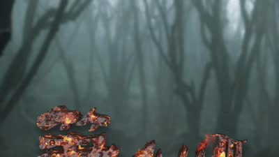 《笔仙3》恐怖蹦床动态海报 飘渺童声阴气森森