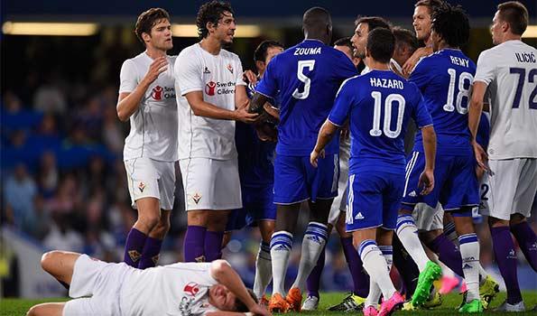 冈萨洛破门双方险爆冲突 佛罗伦萨1-0切尔西