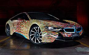 流动的色彩碎片宝马i8未来主义版
