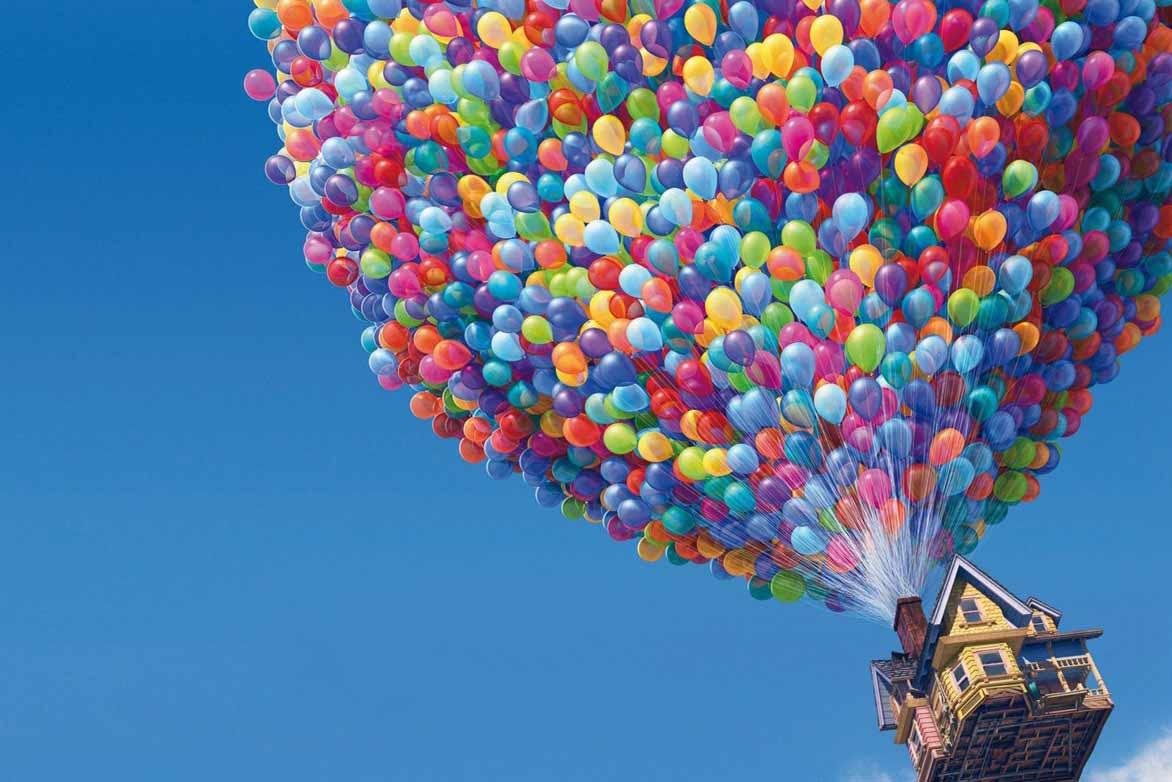 乘坐孩子们的气球上天