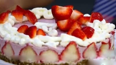 低糖低脂草莓奶油蛋糕 安神补脑黄金大补丸