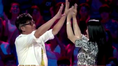 范明现场大跳小苹果 王姬范明获得胜利