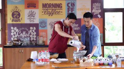 林峯惊喜加盟做早餐 陈伟霆制作爱心椰香糕