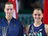 WTA年终总决赛颁奖典礼 A拉夺冠流泪发表感言
