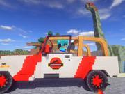 秀色解说 我的世界侏罗纪公园第90期 开着吉普去飙车