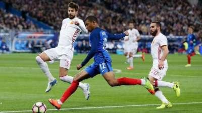 录播-法国vs西班牙(梁翔宇) 2017国际友谊赛