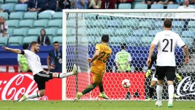 澳大利亚两连击扳平比分 罗吉奇远射破莱诺