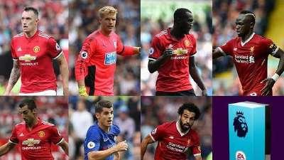 英超八月最佳球员候选公布 曼联三人PK利物浦两翼