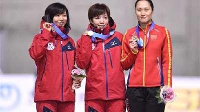 亚冬会速滑女子1000米 张虹摘铜日本包揽冠亚