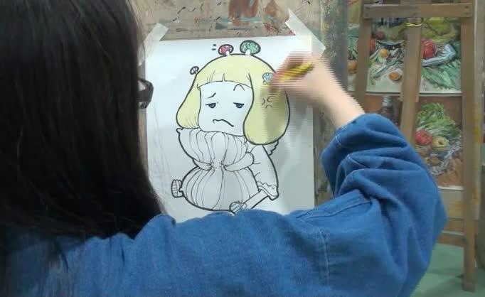 彩铅伙伴动物简笔画