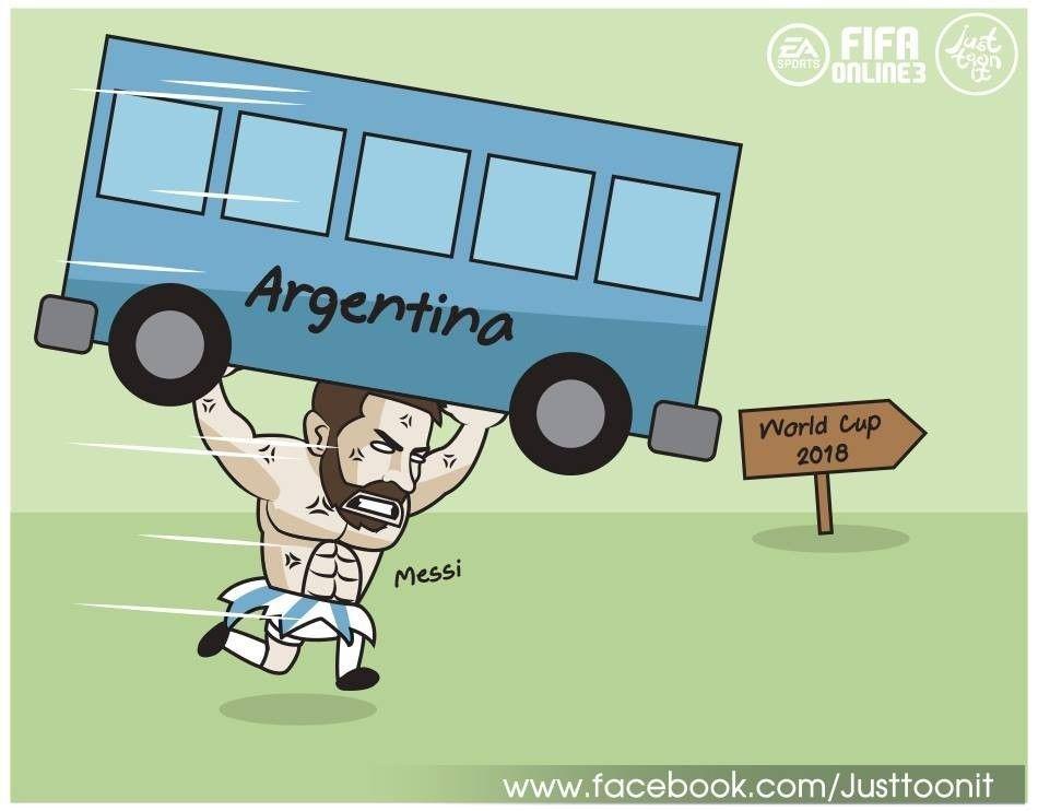画:大吉大利要吃鸡,梅西逆天改命助阿根廷进世界杯