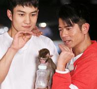 韩东君宠溺小猴如父子