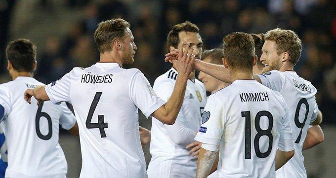 世预赛-阿塞拜疆1-4德国-许尔勒造3球德国5连胜