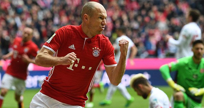 德甲-拜仁2度落后2-2美因茨-罗本传射 蒂亚戈建功
