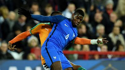 友谊赛-博格巴低迷特劳雷中柱 法国0-0科特迪瓦