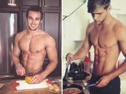 让女生欲罢不能的性感型男做菜