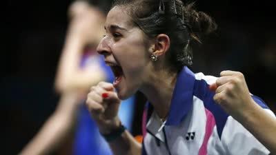 全英羽毛球公开赛女单1/16决赛 马林vs萊恩