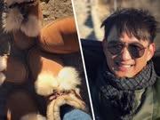 黄磊孙莉带两女儿爬长城 全家同款亲子鞋太有爱