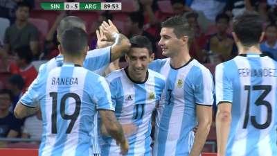 迪玛利亚头球摆渡 阿拉里奥一脚打门比分狂飙至5-0