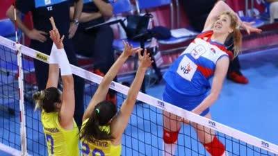 女排大奖赛塞尔维亚3-0巴西 米哈24分冠全场