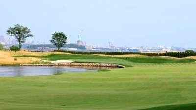 与自由女神隔河相望 自由全国高尔夫俱乐部欣赏