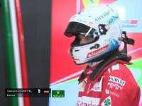 F1日本站正赛:里卡多过弯带起草皮飞上赛道