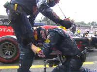 激动坏了!F1德国站正赛:里卡多换胎终于快啦