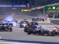 F1新加坡站正赛发车:霍肯伯格被撞退赛引发安全车