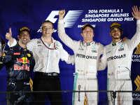 F1新加坡正赛集锦:罗斯伯格第200场大奖赛Pole to win