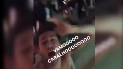【片段】巴萨绝杀内少疯狂庆祝! 赤裸上身同友人一起摇摆