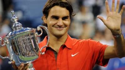 费德勒2008美网完胜穆雷 成就5冠王夺大满贯第13冠