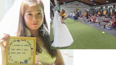 重庆女孩穿婚纱赴罗马求婚托蒂:我12岁就想嫁给你