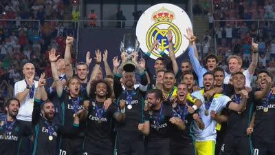 皇家马德里是冠军!皇马全队捧杯疯狂庆祝
