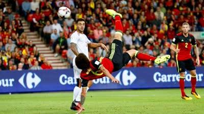 比利时世预赛6佳球 中超外援惊世倒钩