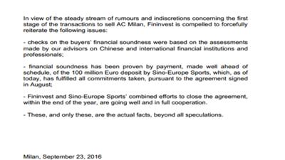 【最新】中欧体育再否认伪造虚假文件:一定会完成米兰收购