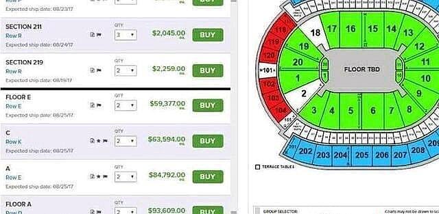 UFC嘴炮vs拳王梅威瑟大赛门票价格曝光!一张门票高达63万!那是富人看的比赛