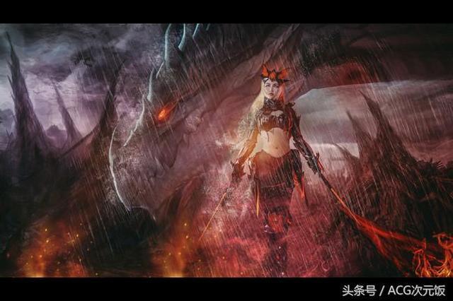 cosplay美图:王者荣耀 姐来展示一下高端操作!花木兰猎龙