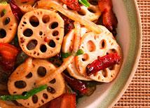 麻辣腊肉炒莲藕