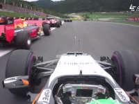 F1奥地利站正赛发车重放:霍肯伯格起步糟糕