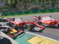 F1比利时站正赛:发车回放法拉利红牛大混战
