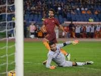 意甲-萨拉赫帽子戏法 罗马3-0博洛尼亚