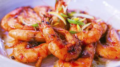 柠香酸辣虾高蛋白低脂肪