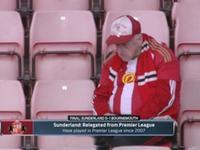 难过!桑德兰降级球迷呆坐不愿离去