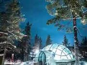 划破天际的极光 童话里的玻璃圆顶屋