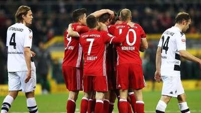 德甲-罗本中柱穆勒第250场德甲建功 拜仁1-0门兴4连胜